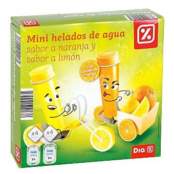DIA Mini helado de agua naranja y limón paquete 8 uds (560 ml)