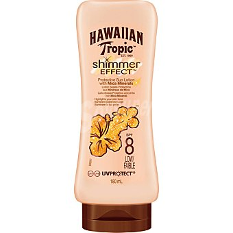 Hawaiian Tropic Loción solar FP 8 Shimmer Effect 180 ml