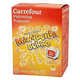 Carrefour Palomita de maíz con mantequilla Pack 3x100 g