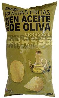 Hacendado Patatas fritas lisas aceite oliva Paquete 130 g