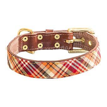 Be-two Collar para perro modelo Buckingham Escocés Talla L 1 unidad