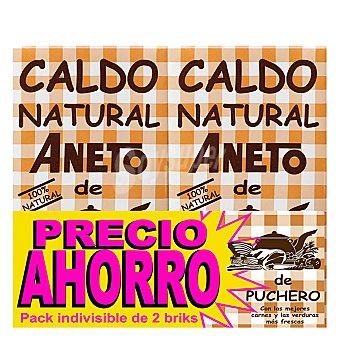 Aneto Caldo natural de puchero Pack 2 envase 1 l