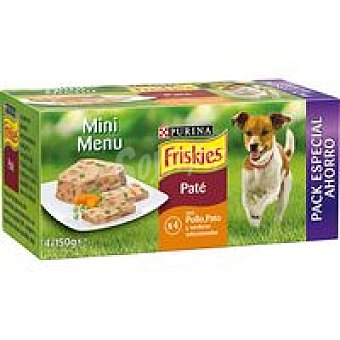 Purina Friskies Mini Menú de pollo Pack 4x150 g