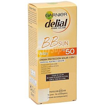 Delial Garnier Crema protectora facial alta BB sun spf 50 caja 50 ml 50 caja 50 ml