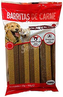 Bobby Comida perro snack barrita carne 20 x 10 g