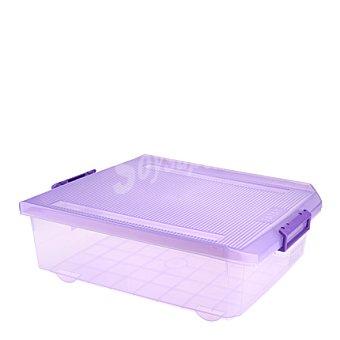 Tatay Caja multiusos morada traslucido 32 L.