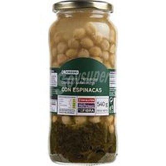 Eroski Garbanzos con espinacas Frasco 350 g