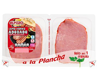 ElPozo Lomo al horno adobado bajo en grasa sin gluten ni lactosa Paquete 350 g