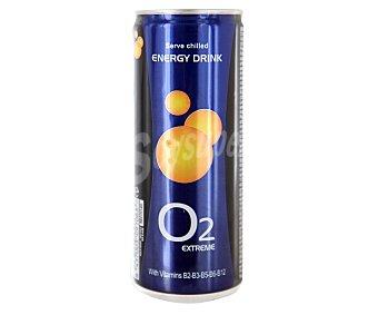 O 2 ENERGY Bebida energética Lata de 250 mililitros