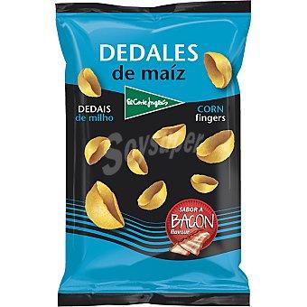 El Corte Inglés Snack dedales de maíz sabor bacon Bolsa 120 g