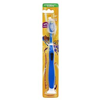 Carrefour Kids Cepillo dental con ventosa y mango ergonómico antideslizante +7años 1 ud