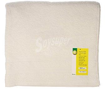 Productos Económicos Alcampo Toalla de ducha 100% algodón color blanco, densidad de 360 gramos/m², 70x130 centímetros 1 unidad