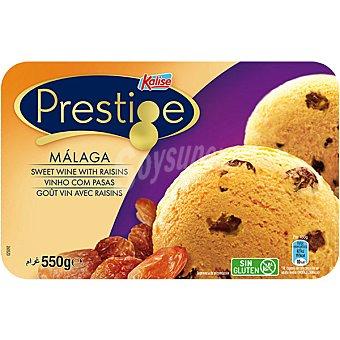Prestige Kalise Helado de Málaga con vino dulce y pasas sin gluten Tarrina 550 g