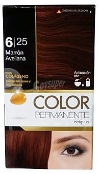 Deliplus Tinte coloracion permanente Nº 6,25 marron avellana u