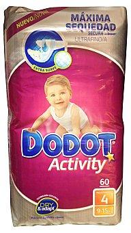 Dodot Activity Pañal Activity 9-15 kg Talla 4 Paquete 60 unid