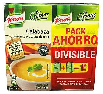 KNORR Crema líquida de calabaza  2 unidades de 500 cc (1 L)
