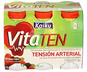 VITA de KAIKU Yogur Líquido Sabor Frutos Secos Pack 6 Unidades de 70 Gramos