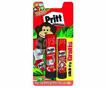 Pritt Lote de barras adhesivas, 1 de 22 gramos y otra de 11 gramos 2 unidades