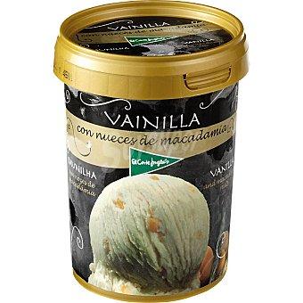 El Corte Inglés Helado de vainilla con nueces de macadamia Tarrina 500 ml