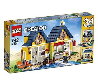 LEGO Juego de construcciones Creator 3 en 1 cabaña de playa, 286 piezas, modelo 31035 1 unidad
