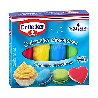 Dr. Oetker Colorantes alimentarios 4 colores en gel para masas y toppings Estuche 40 g