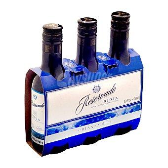 Reservado Vino tinto rioja crianza Botellin pack 3 x 187 ml - 561 ml