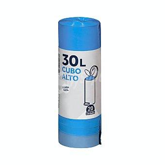 Bosque Verde Bolsa basura cubo alto cierre fácil 50 x 75 (Azules) Paquete de 20 uds