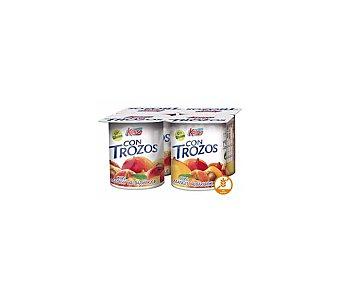 Kalise Yogur con trozos de mango y albaricoque sin gluten Pack 4 unidades 125 g