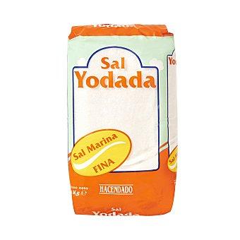Hacendado Sal fina seca yodada Paquete 1 kg