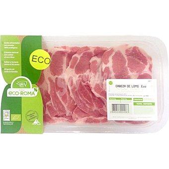 ECOROMA Filetes de aguja fresca de cerdo ecologico peso aproximado Bandeja 300 g