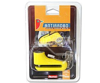 Auchan Pinza anti-robo para freno de disco de motocicleta con eje de 7 milímetros 1 unidad