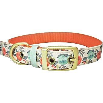 Fred & Rita Collar para perros modelo Flores color coral talla L 1 unidad