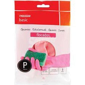 Eroski Basic Guante flocado talla pequeña Paquete 1 par