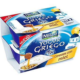 Yogur Griego Nestlé Yogur griego de cereales con miel Pack 2x125 g