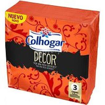 Colhogar Servilletas decoradas 3 capas Paquete 50 unid