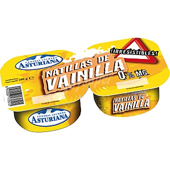 Central Lechera Asturiana Natillas de vainilla Pack 2 unds. 130 g