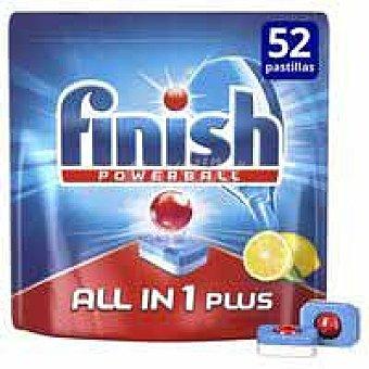 Finish Detergente lavavajillas todo en 1 limón 36+16 pastillas