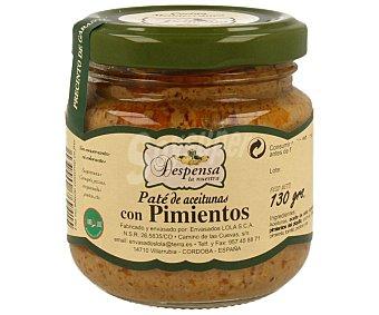 Despensa la Nuestra Paté de aceitunas con pimientos 130 gramos