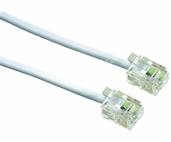 Auchan Cable red RJ11 6P4C 10 Metros