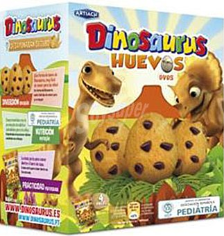 ARTIACH Dinosaurus Huevos galletas con chocolate  paquete 140 g