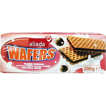Aliada Wafer rellenos con crema de cacao y avellanas Estuche 200 g