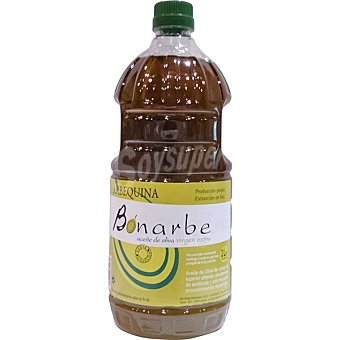 BONARBE Aceite de oliva virgen extra Arbequina  Botella de 2 L