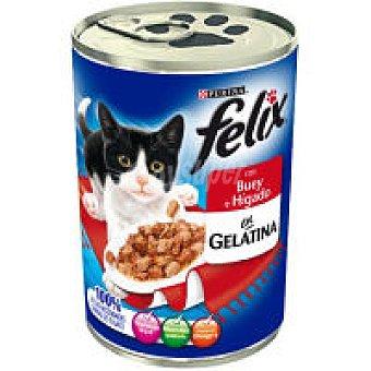 Purina Felix Comida gato gelatina buey e hígado Lata 400 g
