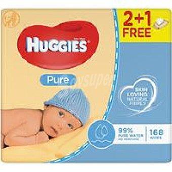 Huggies Toallitas Pure Paquete 2+1 ud