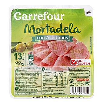 Carrefour Mortadela aceituna loncha - Sin Gluten 250 g