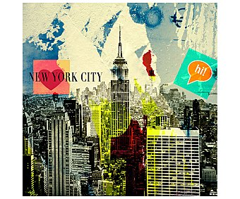 IMAGINE Cuadro con una imágen del Skyline de la ciudad de New York y dimensiones de 28x28 centímetros 1 unidad.