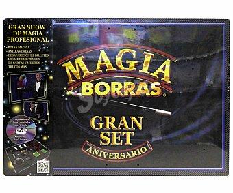 BORRAS Juego de Mesa Magia Borras Gran Set, Incluye un Dvd y los Accesorios para Realizar los Mejores Trucos de Mágia, 1 Unidad