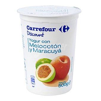 Carrefour Discount Yogur con melocotón-maracuyá 500 g
