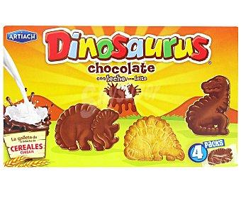 Artiach Dinosaurus galletas con chocolate blanco estuche 170 grs Estuche 170 grs