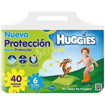 HUGGIES Nueva Protección pañalaes de 16 A 30 kg talla 6 paquete 40 unidades